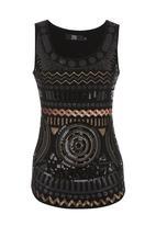 Traffic - Sequin aztec top Multi-colour