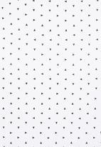 Charlie + Sophie - Triangle-print blanket Black/White