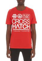 Crosshatch - Large go tee Red