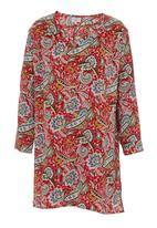 edit - Printed cotton tunic Red