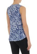 edge - Printed cami with zip detail Blue/White