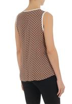 edge - Ethnic-print cami with zip detail Brown
