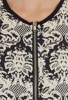 edge - Printed cami with zip detail Black