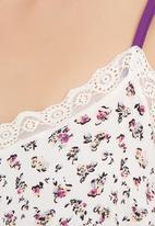edge - Spaghetti strap short onesie with lace detail Multi-colour