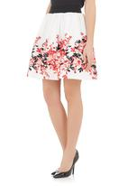 Ilan - Floral-printed mini skirt Multi-colour