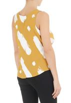 SELFI - Paint-splattered top Yellow/ White