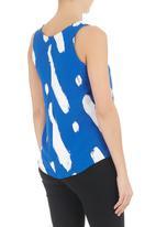 SELFI - Paint-splattered top Blue/White