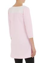 STYLE REPUBLIC - Tunic with pleather inset Pink (pale pink)
