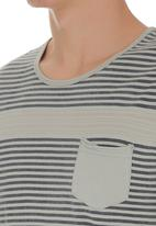 S.P.C.C. - Slub Stripe Tee Pale Grey