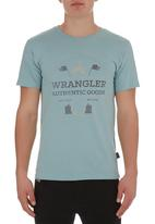 Wrangler - Horsing around T-shirt Mid Blue