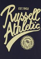 Russell Athletic - Printed Crew-neck Tee Navy