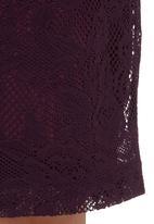 KARMA - Lace Skirt Mid Purple