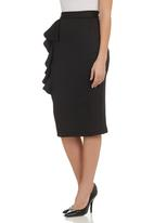 Gert-Johan Coetzee - Frilled Skirt Black