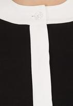 RUFF TUNG - Kimono Shirt Black/White