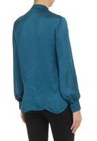Mushi - Long-Sleeved Shirt With Frill Detail Dark Green