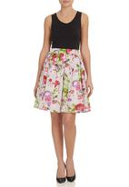 Leandra Designs - Floral Skirt Multi-colour