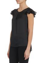 Mishah - Frilly Sleeve Blouse Black
