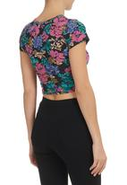 All About Eve - Floral Botanical Crop Tee Multi-colour