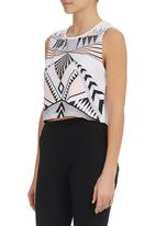 All About Eve - Printed flash tank White
