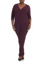 Megalo - Jumpsuit with wrap front Purple
