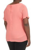 Megalo - Boxy Tee  Coral