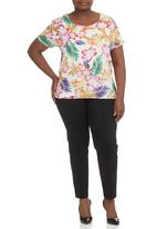 Megalo - Floral-print Boxy Tee Multi-colour