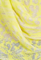 edge - Burn-out draped top Yellow