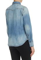 Levi's® - Tailored Western Denim Shirt Mid Blue