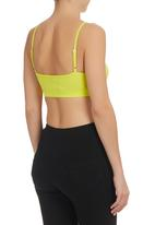 edge - Crop Top with Ruching Detail Yellow