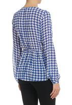 CRAVE - Top With Elasticated Waist Blue/White