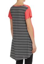 Astrid Ray - Chloe Tee With Stripes Coral