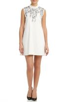 MARETHCOLLEEN - Brody Dress With Floral-print White