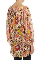 Slick - Helena Printed Tunic Orange