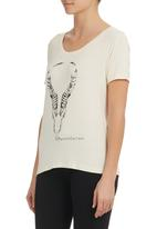 MARETHCOLLEEN - Printed T-shirt Milk
