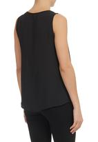 edit - V-neck Blouse Black