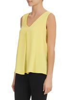 edit - V-neck Blouse Yellow