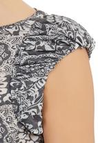 adam&eve; - Estee Top With Gathered Detail Black/White