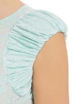 adam&eve; - Estee Top With Gathered Detail Turquoise