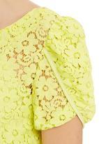 adam&eve; - Dakota Lace Top With Tulip Sleeves Yellow