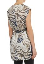 G Couture - Tiger-print Tunic Navy