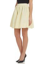 adam&eve; - Emelia Skirt Yellow/White