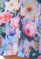 adam&eve; - Drew Floral Pencil Skirt With Front Slit Detail Multi-colour