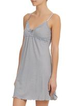 Lila Rose - Cut-out Lace Chemise  Grey