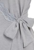 Lila Rose - Cut-out Lace Gown Grey