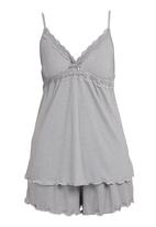 Lila Rose - Cut-out Lace Set Grey
