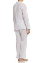Lila Rose - Revere Collar Sleepwear Set White