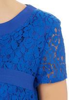 edit - Lace Top Cobalt