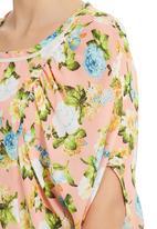 edit - Floral-print Batwing Top Multi-colour