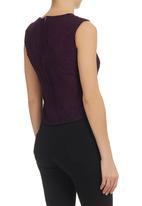 KARMA - Lace Shell Top Mid Purple