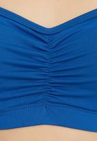 edge - Crop Top with Ruching Detail Blue